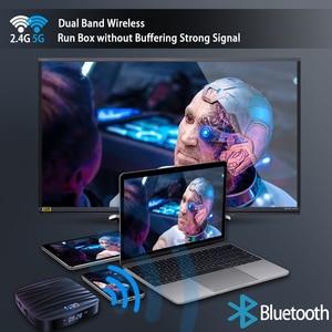 Image 4 - Reproductor multimedia 4K H.265 para TV, Android 10, 4GB, 32GB, 64GB, vídeo 3D, Wifi 2,4G, 5GHz, Bluetooth, dispositivo de TV inteligente