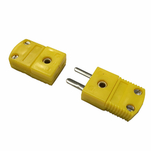 K/T/J type thermocouple miniature socket plug connector thermocouple plugs and sockets sensor US type contact type thermometer uni t ut320a ut320d thermocouple single dual channel k j temperature tester data hold max min avg