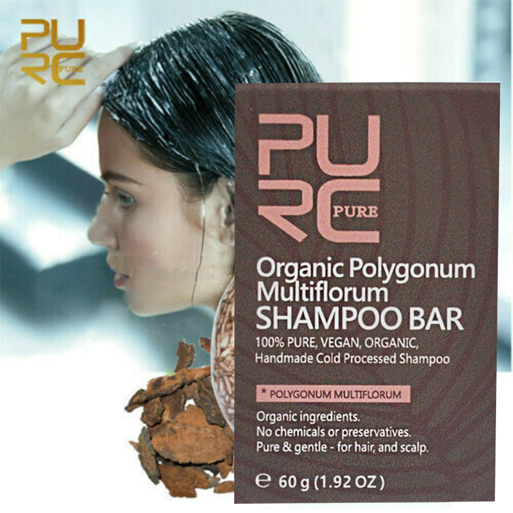 Polygonum Handmade Reverse Shampoo Bar Hair Darkening Shampoo Bar Conditioner and Repair Essence KG66