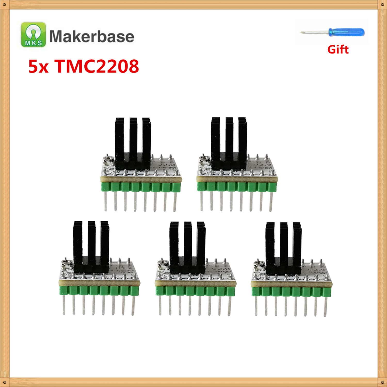 Step Stick MKS TMC2208 V2.0 Stepper Motor Driver Controller Stepping Driver Module TMC 2208 Implements 3d Printer Engine Parts