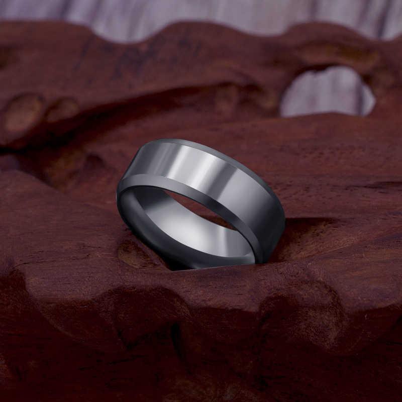 Moda Simple mate 316L anillos de acero inoxidable para mujeres 2020 joyería venta al por mayor fiesta regalo Dropshopping