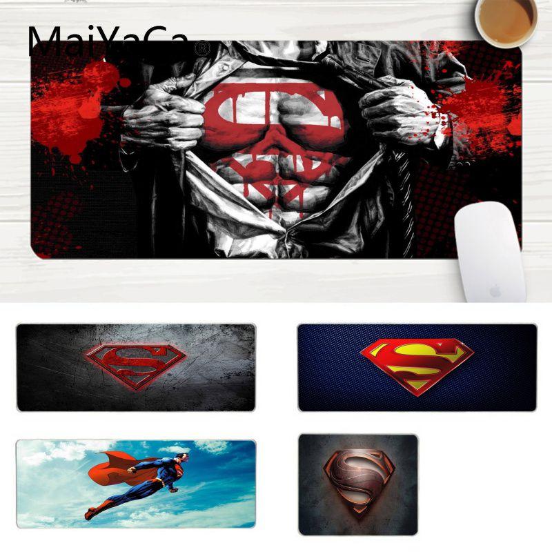 MaiYaCa New Designs Marvel Superman Laptop Gaming Mice Mousepad Large Lockedge Mouse Pad PC Computer Mat Gaming Mouse Pad