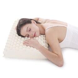 Noyoke látex massagem ortopédica travesseiro cama sono marca pescoço cervical travesseiro macio para dormir