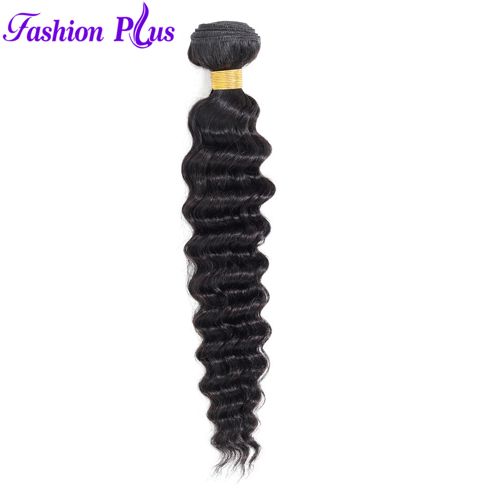 Fashion Plus Peruvian Deep Wave Bundles  Can Buy 3/4 Bundles Deal 100% Remy Human Hair Extensions Peruvian Hair Bundles