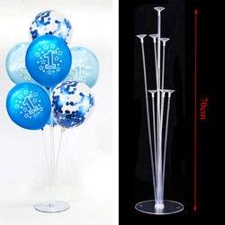 Suporte para bolas de festas, suporte para balões de menino e menina para decoração da festa de 1 ano