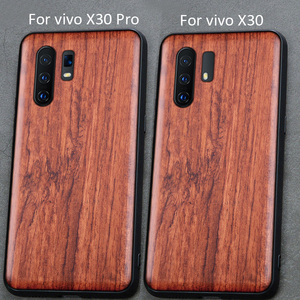 Image 2 - 3D Carved Wood Case For vivo X30 Pro Tree wooden Pattern Embossment carve Cover