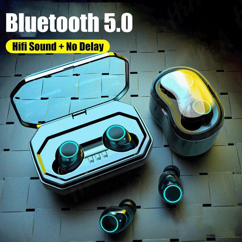 TWS-стереонаушники H & A с поддержкой Bluetooth 5,0 и зарядным футляром на 3500 мА · ч