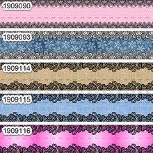 10 ярдов-разные размеры-корсажная лента-цветная лента с цветочным принтом