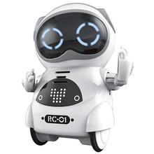 Карманный робот, говорящий, интерактивный, голосовое распознавание, запись, пение, танцы, история, мини Интеллектуальный робот, игрушка