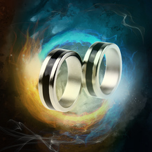 Hot Strong Magnetic Magic Ring Silver And Black Magician Ring Coin Magic Magic Tricks For Magic Show Close Up Magic