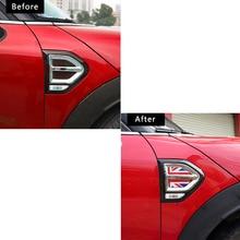 4pcs Car front fender 3D sticker decoration For BMW MINI Cooper F60 Countryman car accessories exterior styling Modification цена 2017