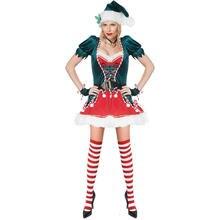 2020 рождественское женское платье с v образным вырезом и длинными