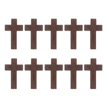 Ornaments Necklace Cross-Decorations Wooden Christian for 70pcs Jewelry Crafts DIY