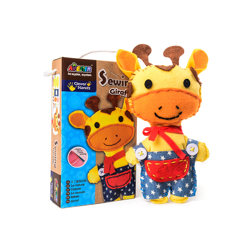 DIY Giraffe Sewing Kit Girls Learning Sewing Products Material Preschool Teaching Child Art & Crafts Montessori Educational Toys
