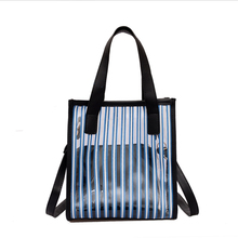 Women Bag Transparent Lattice Pouch Color Stripe Shoulder Bags For Tote Chain Jelly Package Handbags Crossbody