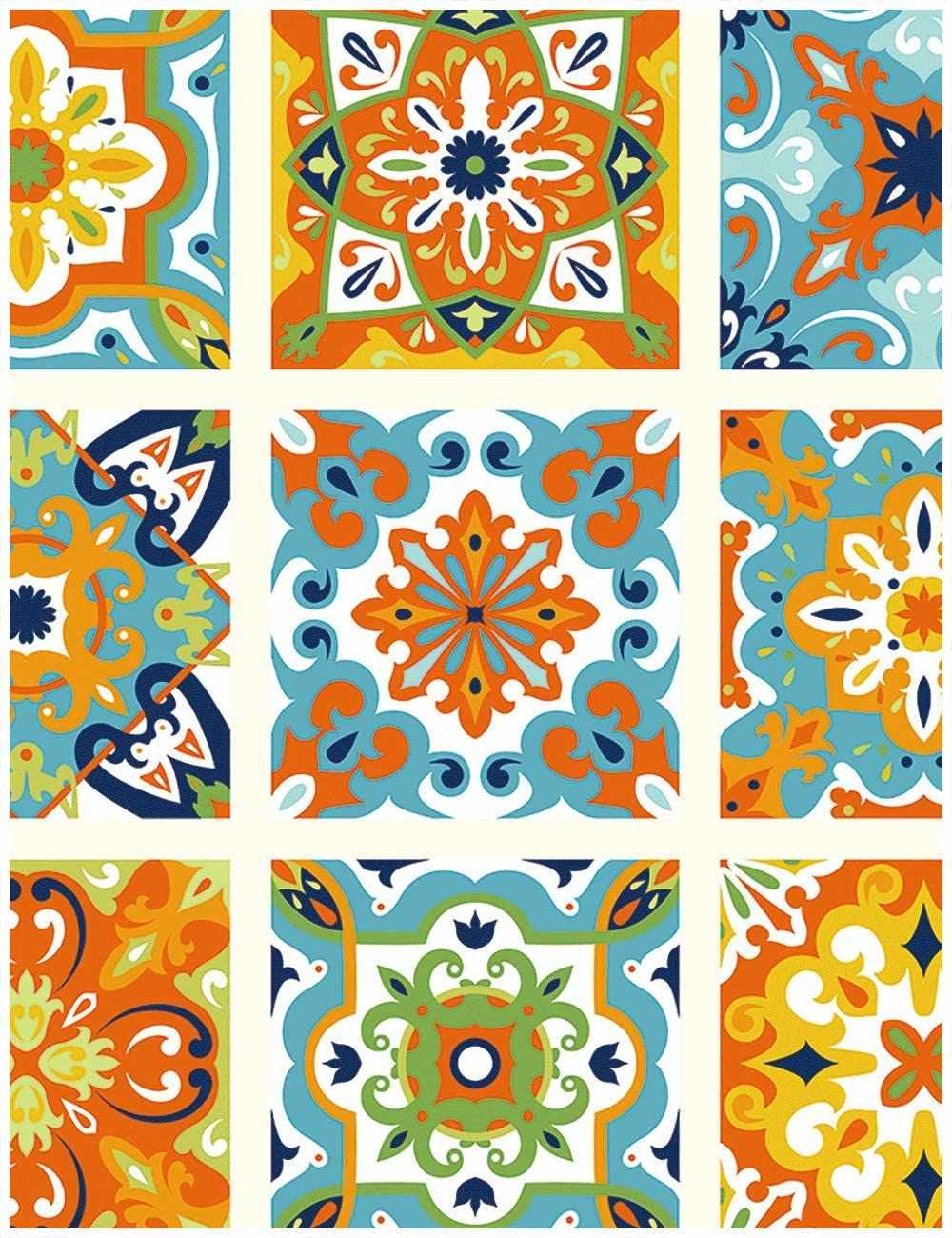 thick peel and stick tile moroccan tile pattern wallpaper vinyl self adhesive contact paper decorative for walls bedroom kitchen
