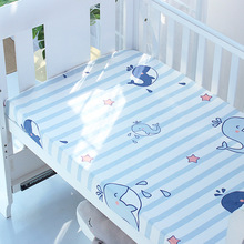 Baby Crib Fitted Bed Sheet With Elastic For Newborn Cotton Cot Bed Sheet Child Matress Cover Protector Size Can Be Customerized