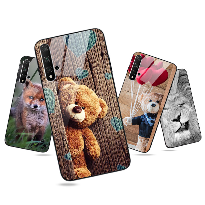 Pc + Tpu Glossy Heldere Voor Huawei Honor 8X 9X Premium 8S 8A 7A 7C 9 10 10i 20 20S Lite Pro Case Cover
