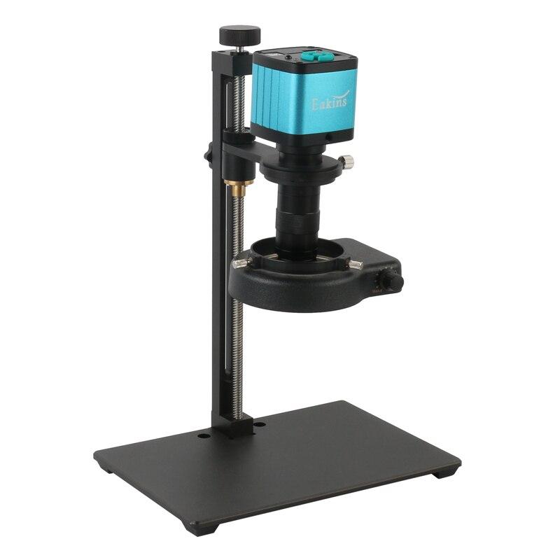 HD 2K 1080P HDMI USB Electronic Video Microscope Camera 130X C-mount 144 LED Light Industrial Soldering Microscopio Recorder