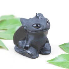 Natural Obsidian Toothless Dragon Hand Carved Stone Polished Figurine Quartz Healing Stones Gemstones For Home DIY Decorations