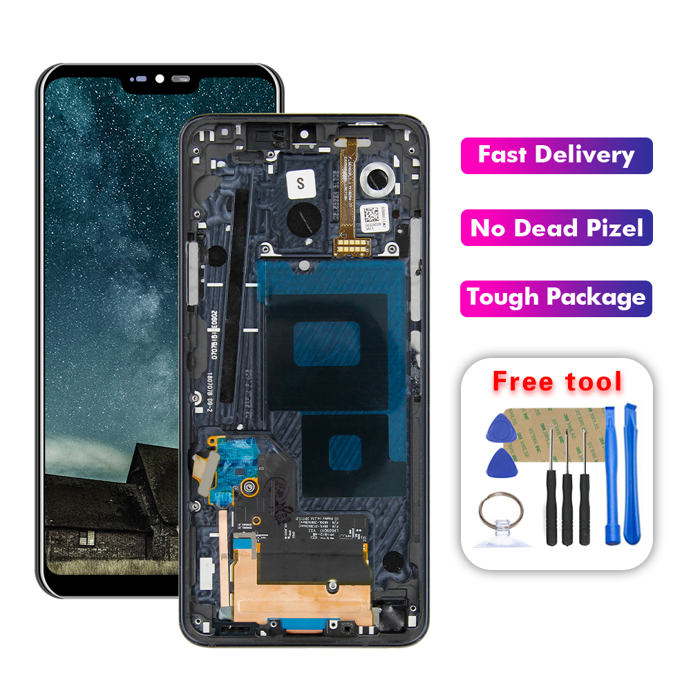 For LG G7 ThinQ G710 Display LCD Touch Screen Digitizer Assembly + Frame Replacement