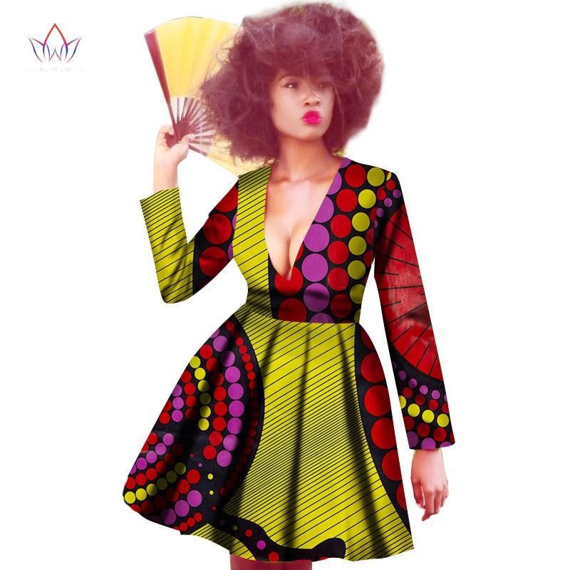 Új afrikai női ruhák Dashiki szexi hosszú ujjú afrikai ruházat - Női ruházat