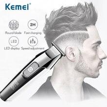 Kemei Usb 헤어 클리퍼 면도기 남성 전문 모어 이발 기계 면도 이발사 리튬 업 그레 이드 럭셔리 버전 트리머 5027