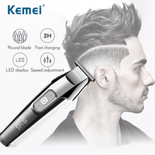 Kemei Usb Hair Clipper Razor Men Professional Mower Haircut Machine Shaving Barber Lithium Upgrade Luxury Version Trimmer 5027