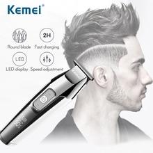 Kemei usbバリカンかみそり男性プロ刈り散髪機シェービング理髪リチウムアップグレード豪華版トリマー5027