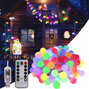 5M 10M Led Ball Fairy String Decorative Lights Wedding Christmas Outdoor Garland Party Home Decoration Waterproof 5V USB Powered 5m 20led 10m 35led big ball string light indoor outdoor decorative fairy lighting for christmas trees patio party