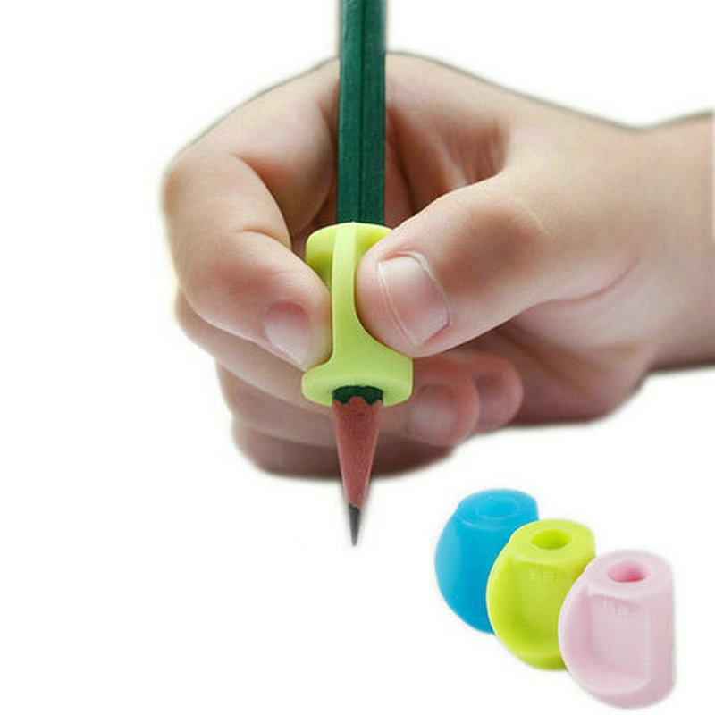 Children Writing Silicone Pencil Grip Pen Holder Kids Learning Practise Writing Aid Grip Posture Correction Device For Students