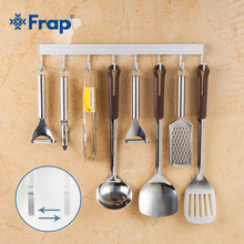 Kitchen Hanger Robe Hooks Holder Rack Kitchen Utensils Gadget Cooking Tools Cookware Spoon Knife Hook Rail Bar Aluminum Alloy(China)