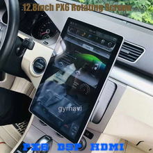 """PX6 12.8"""" Rotation IPS screen double din car universal gps radio DSP player Tesla Style android 9.0 4+64G wifi usb bluetooth"""
