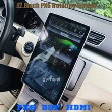 "PX6 12.8 ""rotasyon IPS ekran çift din araba evrensel gps radyo DSP oynatıcı Tesla tarzı android 9.0 4 + 64G wifi usb bluetooth"