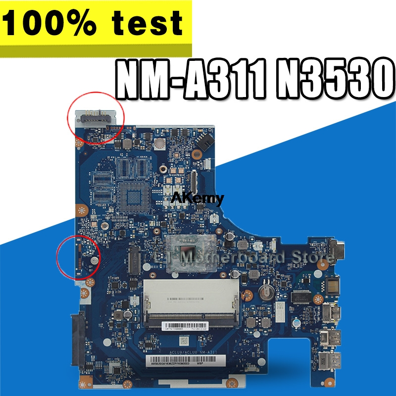 100% TESTED FREE SHIPPING ACLU9/ ACLU0 <font><b>NM</b></font>-<font><b>A311</b></font> Laptop motherboard for Lenovo G50-30 ON BOARD CPU + VIDEO CARD image
