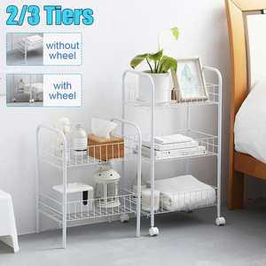 2/3 уровневый простой органайзер для хранения, полка для спальни, ванной, кухни, металлическая тележка на колесиках, держатель для хранения, к...