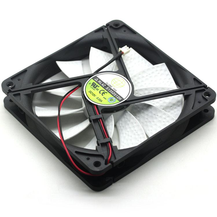 New For GLOBE FAN RL4Z S1352512H RL4Z B1352512H DC 12V 0.33A 13.5CM 135mm Fan Pc Chassis Power Cooling Fan 135x135x25mm Cooler
