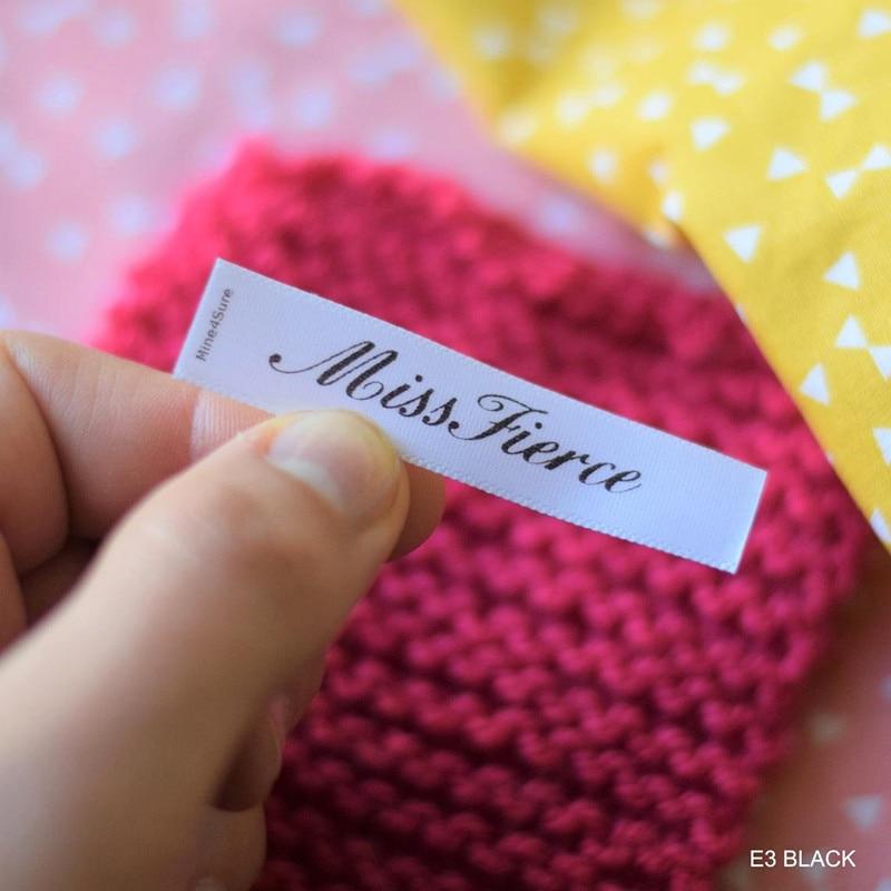 300pcs High Quality White Satin Care tags Custom washabel sew on clothing labels fabric printing text logo garment washing label