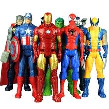 Игрушки Marvel Мстители, 30 см/12 дюймов, Халк танос, Росомаха, Веном, Железный человек, Капитан Америка, Тор, Человек-паук, экшн-фигурки, куклы, под...