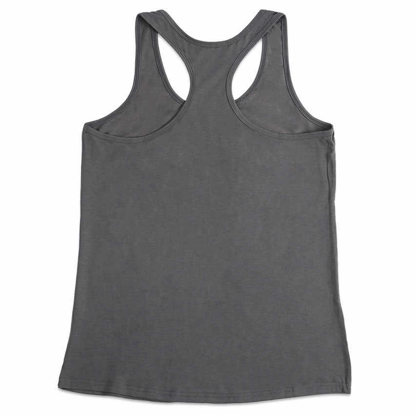 Gris débardeur femmes lettre réservoirs été sans manches t-shirt mode femme haut ample 2019 nouveau o-cou Camis décontracté débardeur dame t-shirt