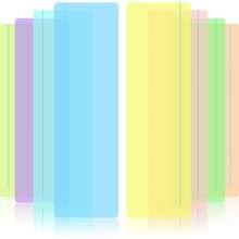 Leitura guiada destaque tiras colorido sobreposição leitura rastreamento réguas ajuda com reduzir o estresse visual (8 pacote)
