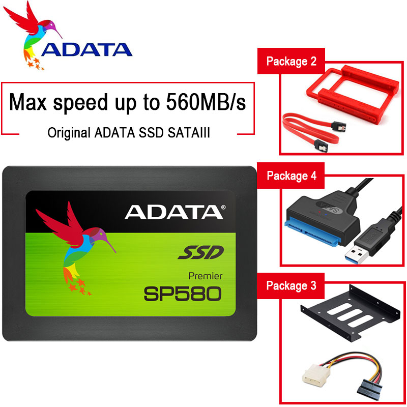 ADATA disco duro solido ssd 240 GB 120GB 480GB 960GB 1 TB hdd 2.5  Hard Drive Internal SSD Hard Disk for HP PC laptop HD sata 3 image
