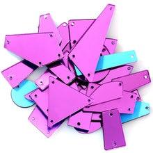 50 шт. фиолетовые хрустальные зеркальные стразы с пришивкой, неровные темно-фиолетовые акриловые зеркальные стразы, пришивные стразы для одежды B3599