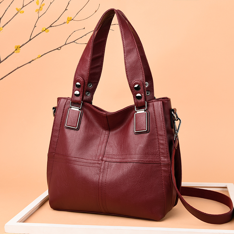Women's Genuine Leather Handbag Large Leather Designer Big Tote Bags For Women 2019 Luxury Shoulder Bag Famous Brand Handbags