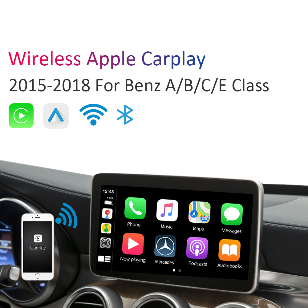 Wireless Carplay Android Auto Multimedia Smart Car Retrofit for Mercedes Benz NTG5.0 GLA A GLC C B E CLS GLE GL image