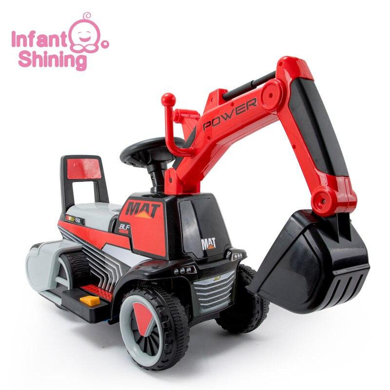 Enfant brillant enfant pelle Ride sur jouet bébé équilibre voiture ingénierie véhicule électrique grand cadeau 3-7Y