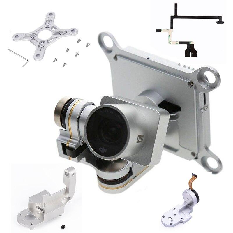 Tüketici Elektroniği'ten Drone Aksesuarları Kitleri'de Onarım parçaları DJI Phantom 3 için profesyonel Drone kamera Yaw kol rulo braketi düz şerit kablo Flex Gimbal dağı motor