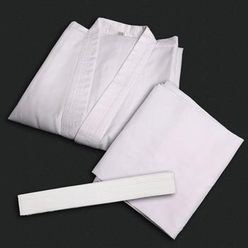 De cuello blanco Karate uniforme de Dobok niños adultos transpirable Taekwondo WTF aprobado tela Jodo ropa dobok sets de kimono