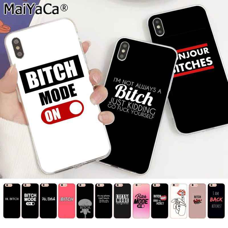 MaiYaCa I'M NOT ALWAYS A BITCH Bonjour Bitches Silicone TPU Phone Cover for Apple iphone 11 pro 8 7 66S Plus X XS MAX 5S SE XR