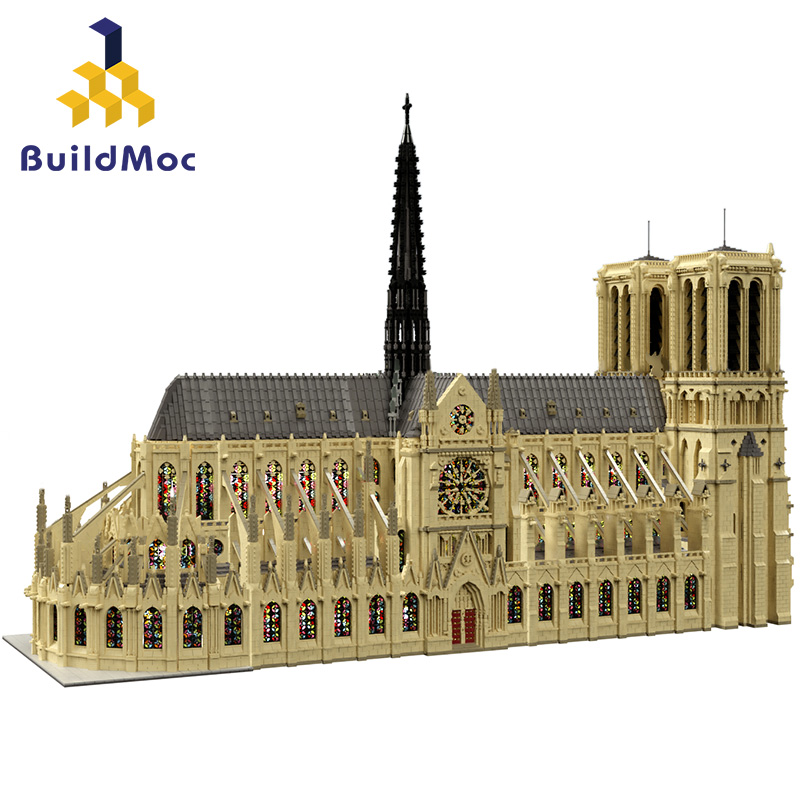 Classic NEW lepinings Super Architecture NOTRE DAME CATHEDRAL of Paris Building Blocks Classic Landmark Model Bricks DIY Gifts 1